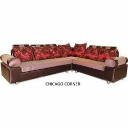 Wood 7 Seater Chicago Corner Sofa
