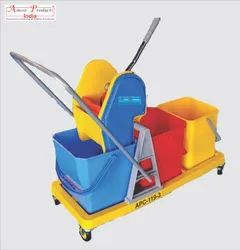 Mop Wringer Trolley Three Bucket