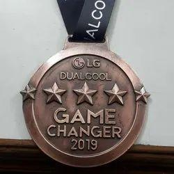 Game Changer Copper Antique Medal