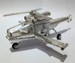 Pure Silver Helicopter