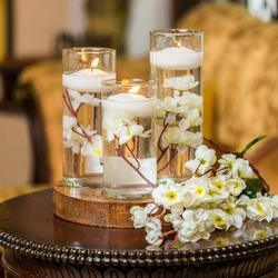 Floating Candle Centrepiece with Wooden Base