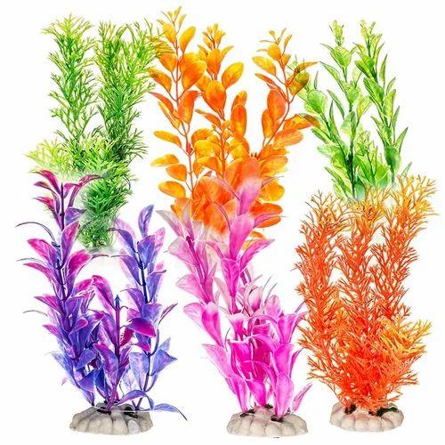 aquarium colorful plastic plant