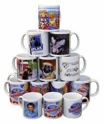 Ceramic Self Mug Printing Services, For Promotion