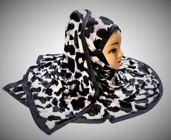 Women's Jersey Stretchable Material Printed Hijab Scarf Dupatta