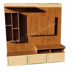 Brown Free Unit Wooden TV Cabinet, For Home,Hotel etc