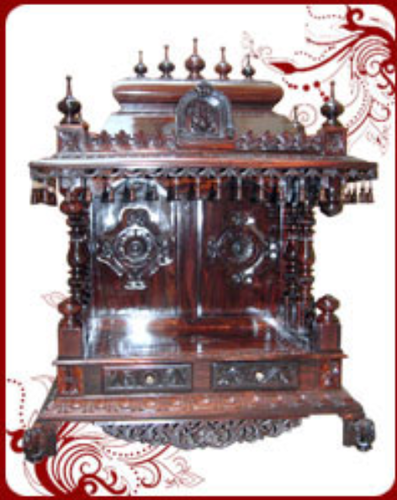 Pm018 Rosewood Home Temple Pooja Mandir Service Provider In