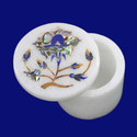 Marble Flower Design Box