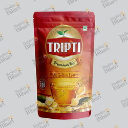 Three Side Seal Tea Packaging Pouch with Zipper