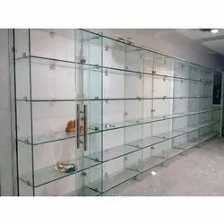 Peachy Wall Mounted Glass Shelves Home Interior And Landscaping Oversignezvosmurscom
