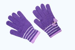 Light Purple Soft Woolen Gloves