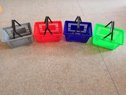 Blue Plastic Shopping Basket, Capacity: Up To 50 Kg