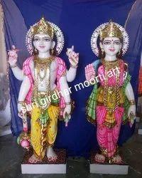 Marble God  Vishnu Laxmi Statue