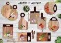 Floral Pattern Wooden Resin Soup Bowl
