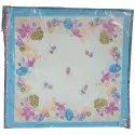 Printed Ladies Designer Cotton Handkerchief, Hand Wash, Size: 20x20 Cm