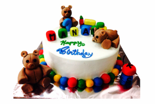 Fondant And Icing Teddy Bear Cake