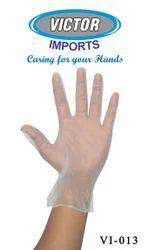 Vinyl Powder Free Examination Hand Gloves Clear