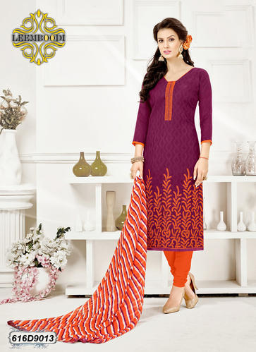 928aba3fdb Purple Cotton Embroidery Salwar Kameez, Rs 469 /piece, Leemboodi ...