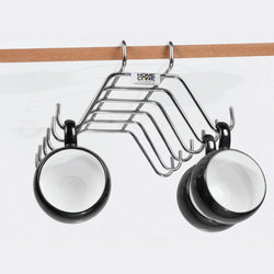 Ozone Stainless Steel Cup Holder Stand, For Glass Fitting