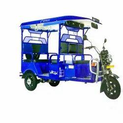 Dark Blue Blue Battery Operated E Rickshaw, Vehicle Capacity: 4 Seater