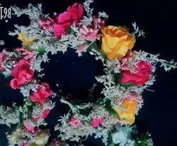 Artificial rose flowers hair brooch