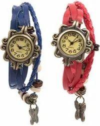 Quartz Women Multi Strap Analog Watch