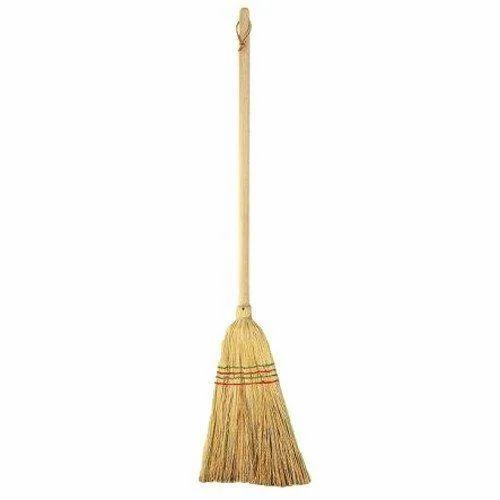 Grass Wood Long Handle Broom Rs 58 Piece Svr