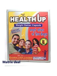 Ayurvedic Herbal HEALTH UP CAPSULES, Treatment: Weight Gain, Muscle Building, Packaging Type: Box