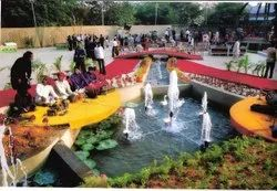 Mihir Engineering Stainless Steel Fountain for Party Lawn, 3 Mm