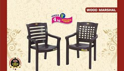 Wood Marshal Plastic Chair
