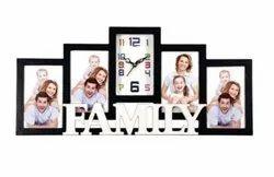 Plastic Photo Frame Wall Clock, Size: Medium
