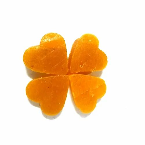 Mayank Yellow Heart Shape Mango Toffee, Packaging Type: Packet
