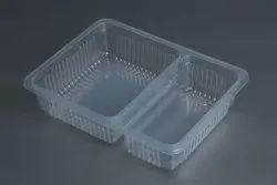 2 Compartment Disposable Food Tray