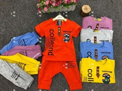 Red Cotton Kids Clothing Set, Age: 0-4 Year, XL