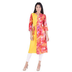 Lavanya Rayon Designer Side Layer Kurti