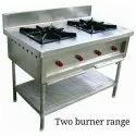 Commercial Ss Two Burner Gas Stove