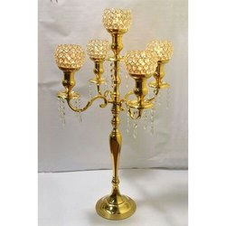 5 Arm Crystal T Light Candelabra