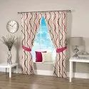 Ravi Exports Printed Abstract Wavy Pink Curtain