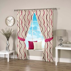 Abstract Wavy Pink Curtain