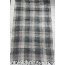 Linen/ Cotton Yarn Dyed Check Shawls