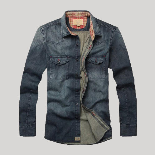 ba4186363d Fitted Denim Shirt Mens - Mens Faded Denim Shirt Wholesaler