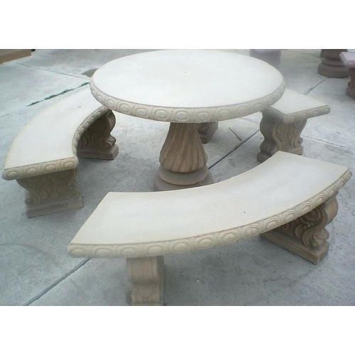 Round Table Concrete Bench At Rs 10000 Set Concrete Benches Id 20014868212