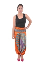 Indian Handmade Sathan Peacock Mandala Pants