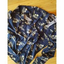 Cotton Full Sleeve Father Son Combo Printed Shirt
