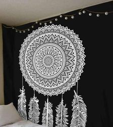 Tapestries Black and White Dream Catcher Queen Wall Hanging
