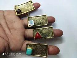 Golden Jewellery Brass Rings, Packaging Type: Box