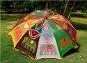 Indian Elephant Embroidered Sun Shade Garden Umbrella