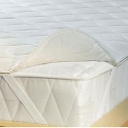 White Hotel Mattress Protector (ALBEDO), Customisable, Thickness: 2