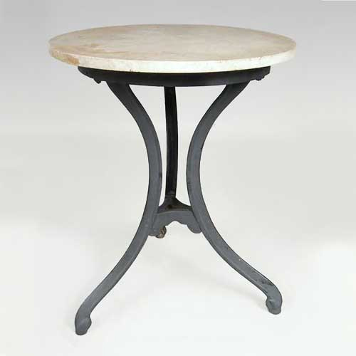 Cast Iron & Wood Round Table