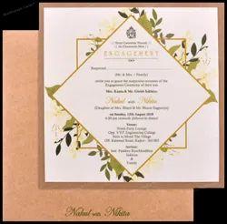 Khaki Engagement Invite Magnificent Craft Single Invitation