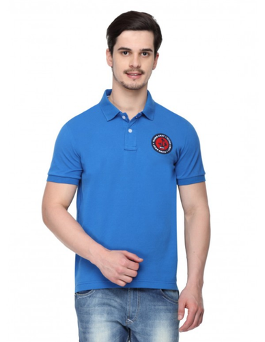 9e8b0aace9 Men Cotton Polo T- Shirt With Embroidery Colour Royal Blue